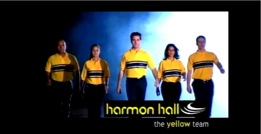The yellow team at the bar